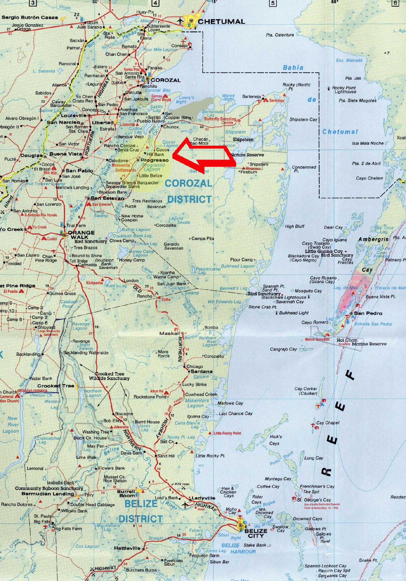 Belize Maps